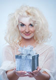 Beautiful snow queen Stock Photography