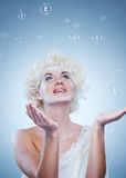 Beautiful snow queen Stock Images