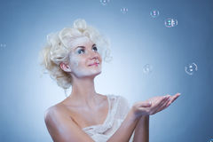 Beautiful snow queen stock photos