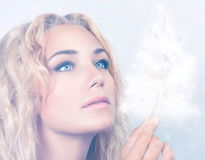 Beautiful snow queen Royalty Free Stock Image