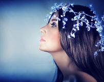Beautiful snow queen portrait Royalty Free Stock Photos