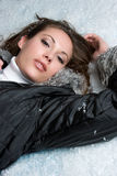 Beautiful Snow Woman Stock Image