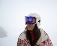 Beautiful snowboarder Stock Photos