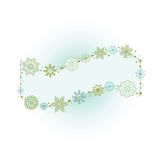 Beautiful Snowflake Banner Royalty Free Stock Photo