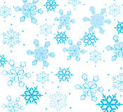 Beautiful snowflakes. On a white background royalty free illustration
