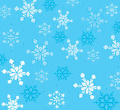 Beautiful snowflakes. On a blue background stock illustration