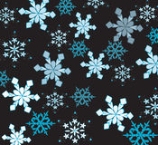 Beautiful snowflakes. On a black background royalty free illustration