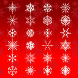 Beautiful snowflakes Royalty Free Stock Photo