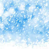Beautiful snowflakes on abstract background Stock Image