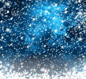 Beautiful snowflakes on abstract background. With bokeh effect royalty free illustration