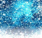Beautiful snowflakes on abstract background. With bokeh effect vector illustration