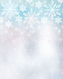 Beautiful snowflakes background Royalty Free Stock Photography