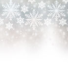 Beautiful snowflakes border Royalty Free Stock Photography