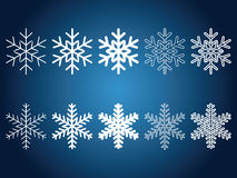 Beautiful snowflakes Royalty Free Stock Image