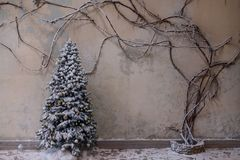 Christmas decoration, interior, background stock image
