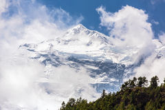 Beautiful snowy mountain landscape. Annapurna Range in Himalayas, Nepal stock images