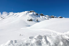 Beautiful snowy mountain Royalty Free Stock Photography