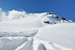 Beautiful snowy mountain Stock Photos