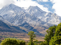 Beautiful snowy mountain peaks South Island of NZ Stock Photography