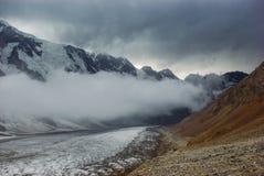beautiful snowy mountains Russian Federation Caucasus stock photo