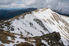 Beautiful snowy mountains. Beautiful scenic landscape with snowy mountains Royalty Free Stock Photography