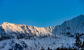 Beautiful snowy mountains, sunny day in Alps Royalty Free Stock Photos