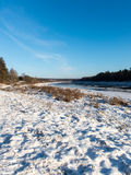 Beautiful snowy winter landscape Stock Photography