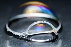 Beautiful Soap Bubble. Closeup of beautiful soap bubble Royalty Free Stock Photos