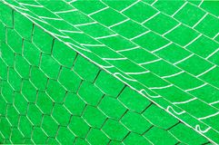 Soccer net on a green background Royalty Free Stock Photos