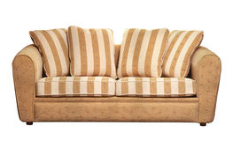 Beautiful sofa with cushions Royalty Free Stock Photography