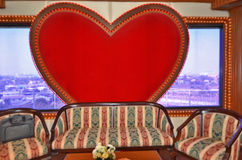 Beautiful sofa with red heart Royalty Free Stock Images