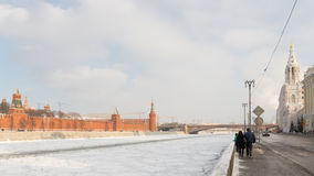 Beautiful Sofia Embankment in Moscow Royalty Free Stock Photo