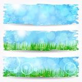 Beautiful soft bokeh nature banner set Royalty Free Stock Photos