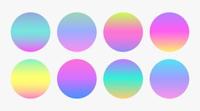 Beautiful soft color gradient circles. Illustration Stock Illustration