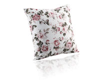 Beautiful and soft cushion. Isolated on white background royalty free stock images