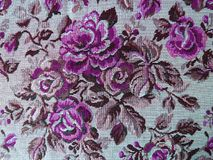 Beautiful soft floral tapestry fabric texture, can use as background Stock Photography