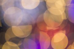 Beautiful soft multicolor bokeh background. Defocused lights pat Royalty Free Stock Photos