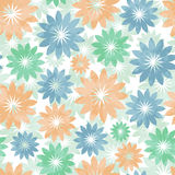 Beautiful soft pattern with flowers Stock Photos
