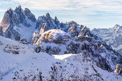 Beautiful sunlight on a Mountain Landscape, Dolomites, Italy royalty free stock photography