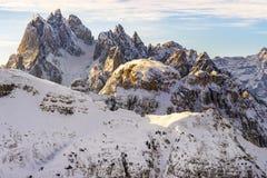 Beautiful sunlight on a Mountain Landscape, Dolomites, Italy royalty free stock image