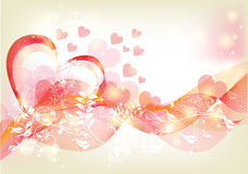 Beautiful soft valentine greeting card Royalty Free Stock Photography