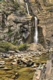 Beautiful soft waterfall in spain Stock Photo