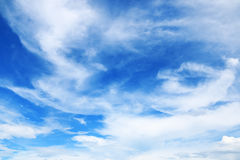 beautiful soft white clouds on blue sky for background and desig Stock Photos