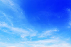 beautiful soft white clouds on blue sky for background and desig Stock Photography