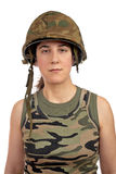 Beautiful soldier girl portrait Royalty Free Stock Photography