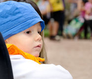 Beautiful solemn young boy Royalty Free Stock Photos