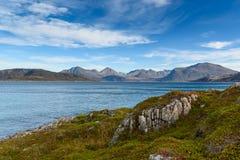 Sommaroy island, Tromso, Norway, Scandinavia, selective focus Royalty Free Stock Photos