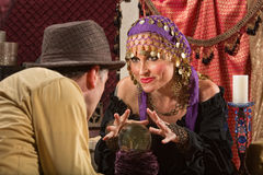 Beautiful Soothsayer Makes Prediction Royalty Free Stock Photography