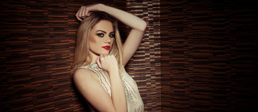Beautiful sophisticated glamorous woman Royalty Free Stock Photos