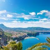 Beautiful Sorrento in sunny day, Italy royalty free stock image
